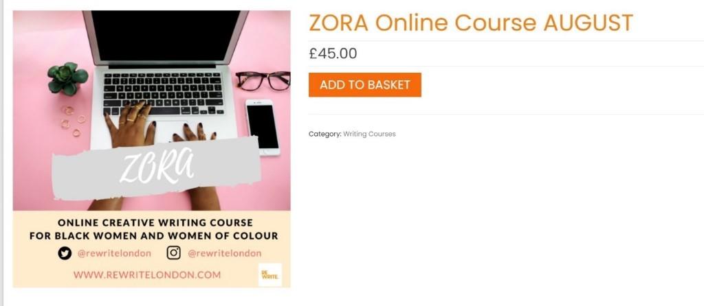Zora creative writing online course black entrepreneurs