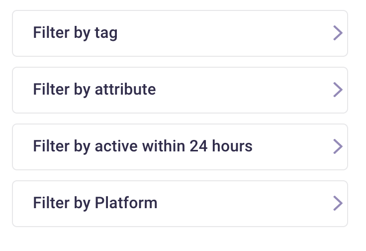segment your Instagram contact lists