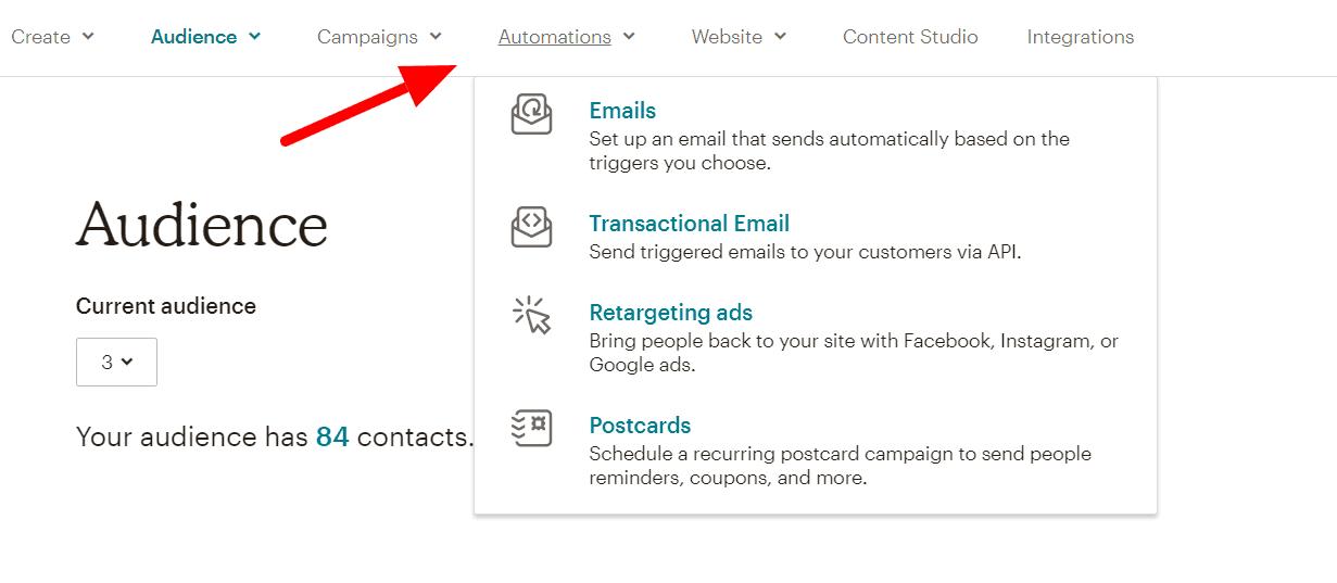 tự động hóa từ mailchimp