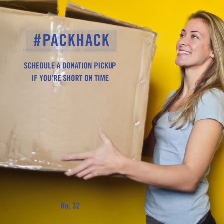 #packhack no. 32 - schedule a donation pickup if you're short on time