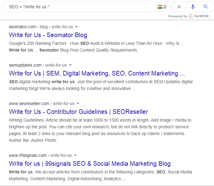 seo string to find guest post accepting blogs