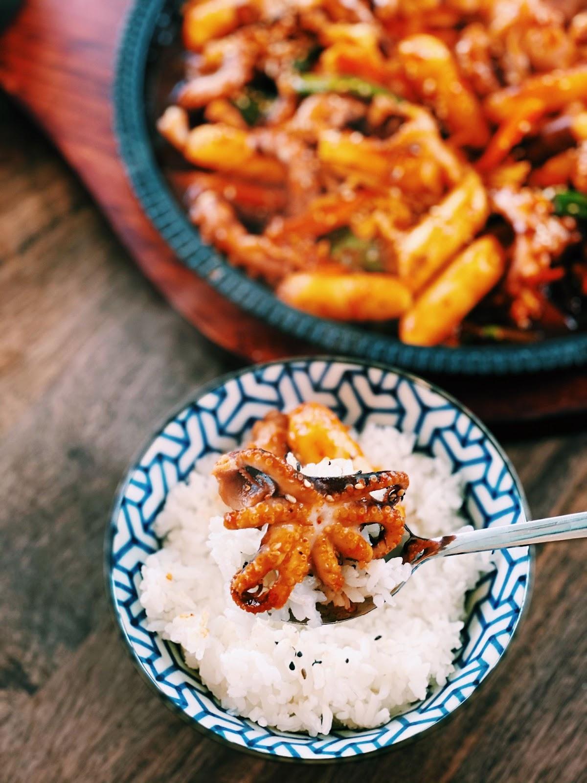 Korean Spicy Octopus Stir Fry