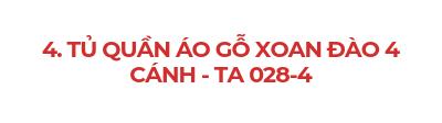 TỦ QUẦN ÁO GỖ XOAN ĐÀO 4 CÁNH - TA 028-4