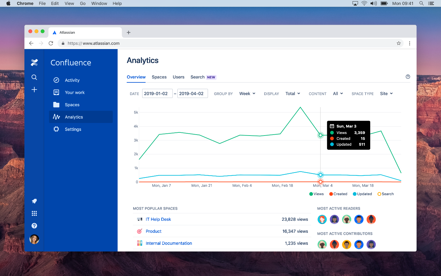 Atlassian confluence is a research repository tool