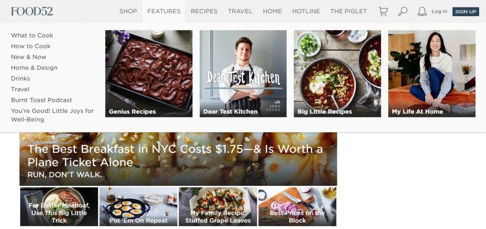 exemplo de blog de culinária com receitas gastronômicas