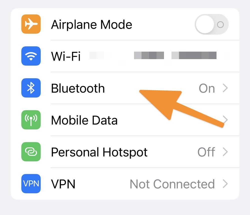 Перейти в пункт меню Bluetooth (или WiFi)