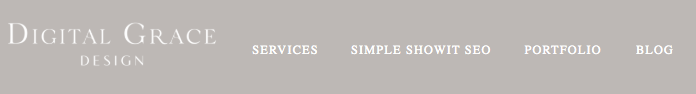 Example of a website navigation bar