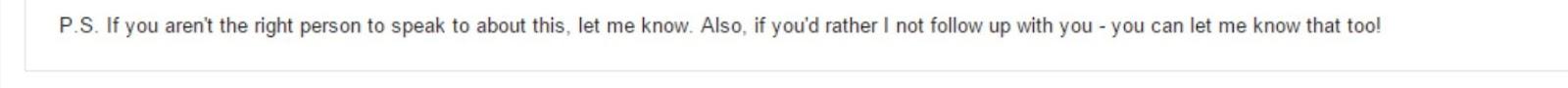a genius post-script in a sales email