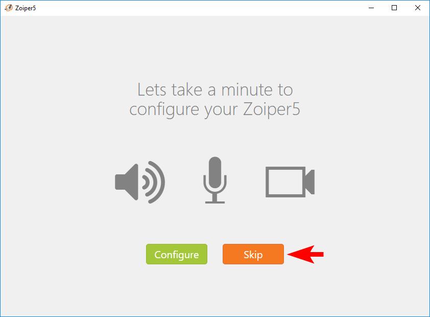 Интерфейс параметров микрофона и камеры для Zoiper