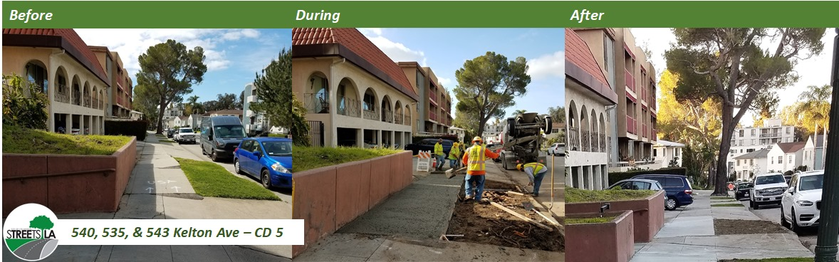 Kelton St Repairs Before and After