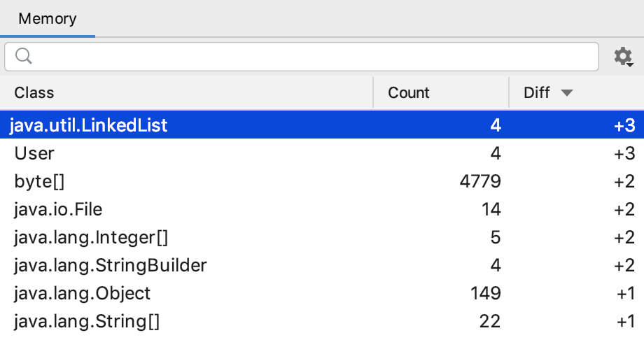 IntelliJ Memory Leak Detection