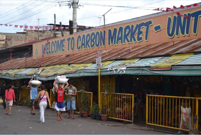 fresh vegetables and meat travel shop carbon market
