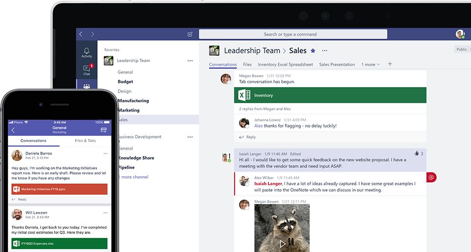 Microsoft Teams Chat Screen