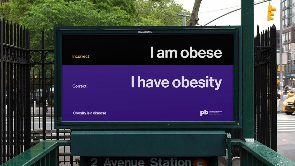 Pennington Biomedical Obesity Subway Billboard