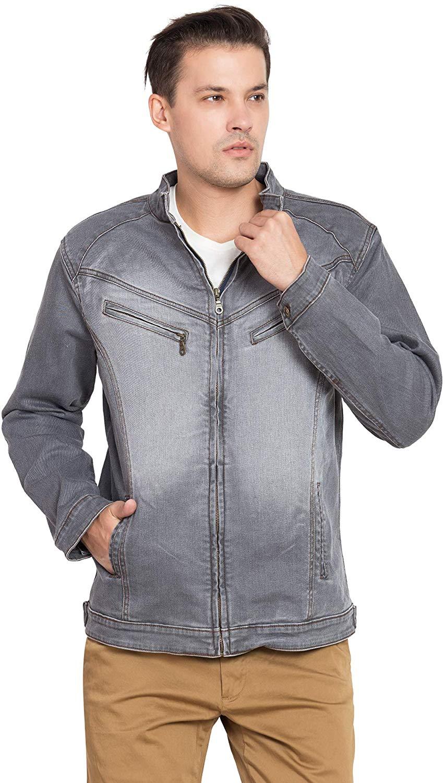 KROSSSTITCH Men Denim Solid Full Sleeve Jacket