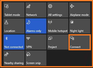 Fix Bluetooth Issues on Windows 10 via action center.