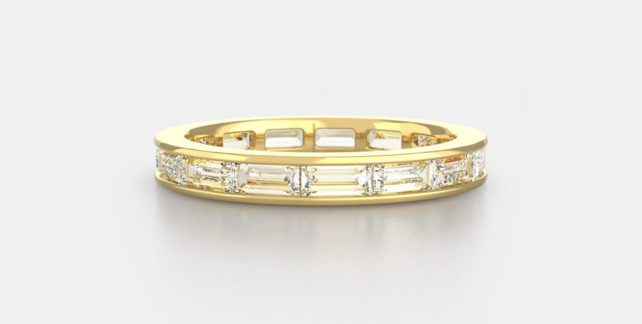 Billie No. 1 Baguette Channel Band in 18K Yellow Gold