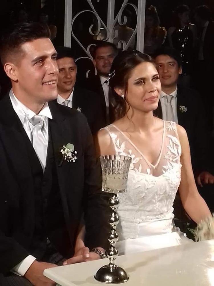 Omar y Emilia durante su casamiento