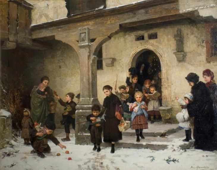 Χριστουγεννιάτικα δώρα, Hugo Oehmichen, 1882.jpg