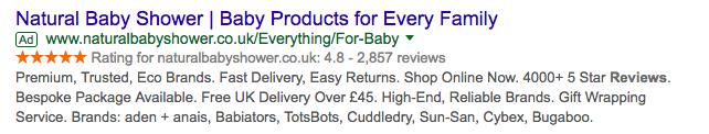 customer reviews marketing search ad
