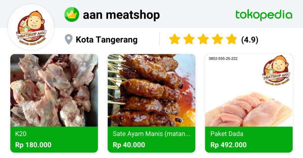 tokopedia meat shop aan