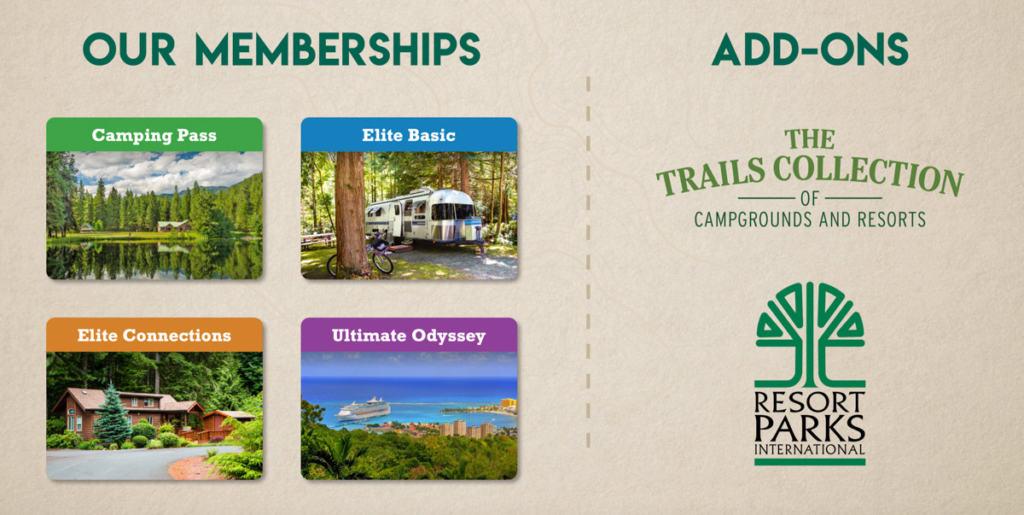 Thousand Trail Membership Plans & Membership Add-ons