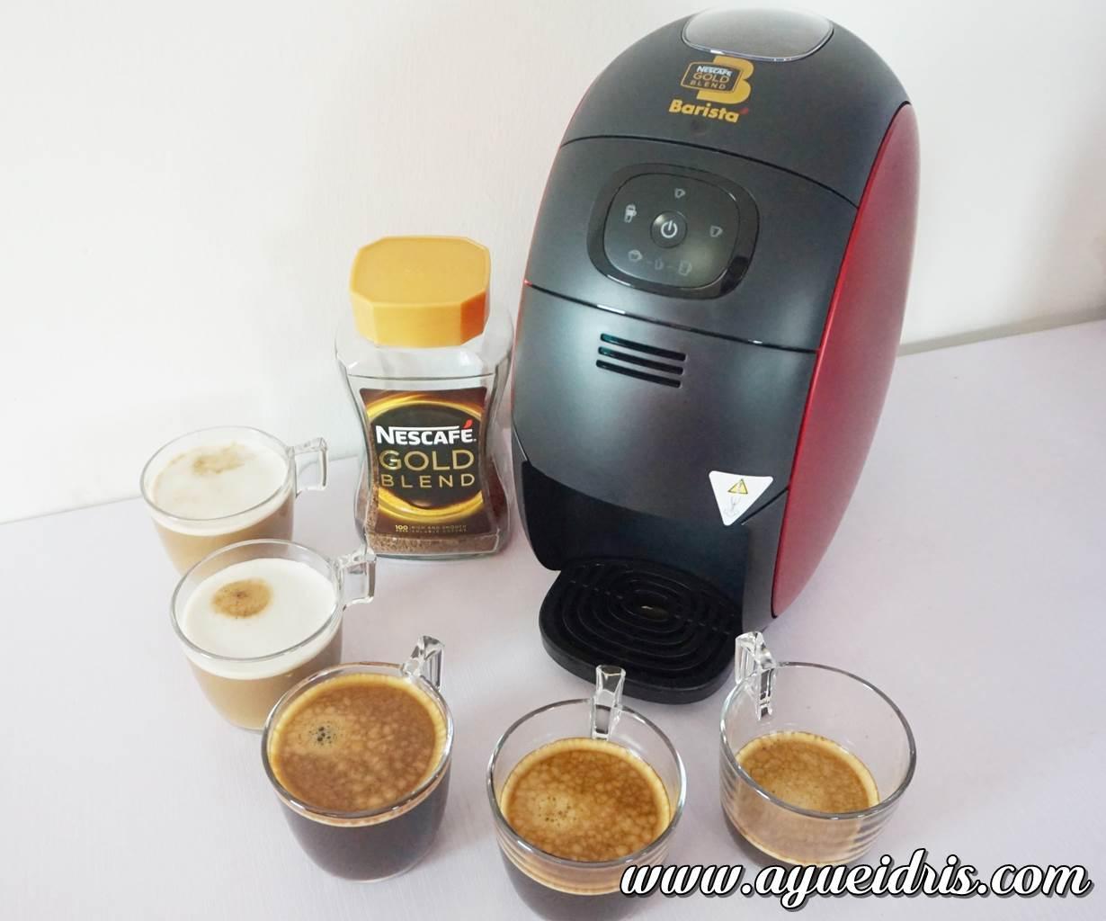 Nescafe Gold Barista Coffee Machine cara guna harga (37).JPG