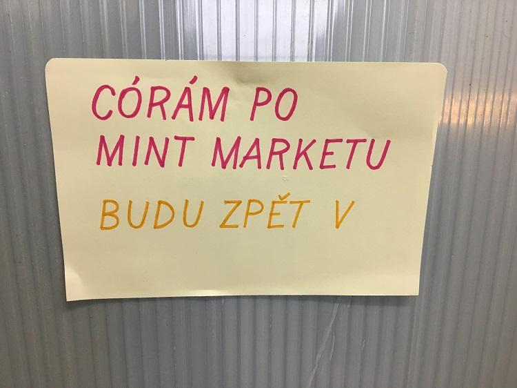 Córám po MINT Marketu Foto: Michal Španěl