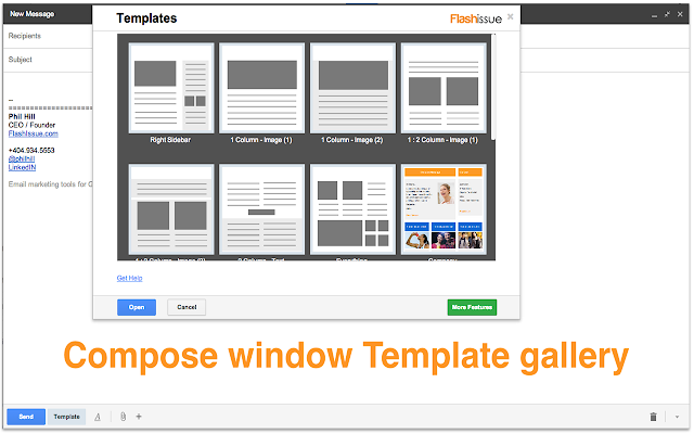 html email blast template - email templates for gmail chrome web store