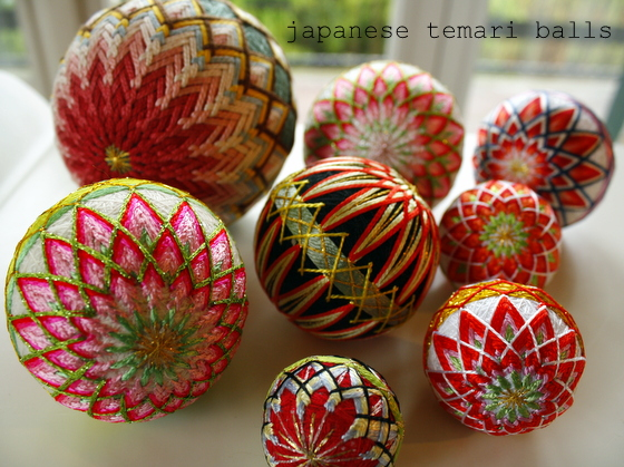Japan handicraft: temari balls