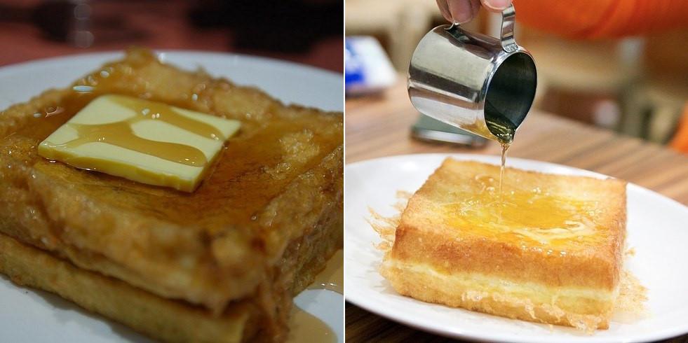 Hong Kong French (Bánh mì kiểu Pháp): Bánh sandwich được phết bơ và thêm si-rô mạch nha hẳn sẽ làm những người thích ăn ngọt hài lòng.