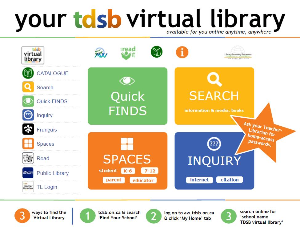 TDSB Virtual Library Interface