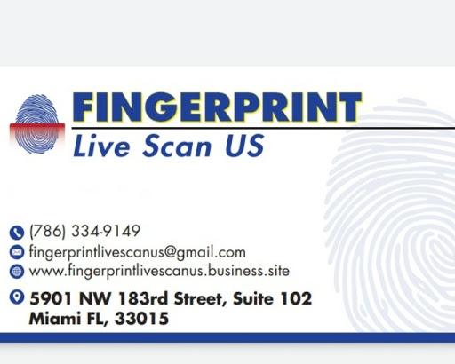 Fingerprint Live Scan US - In Miami: FDLE Registered ...
