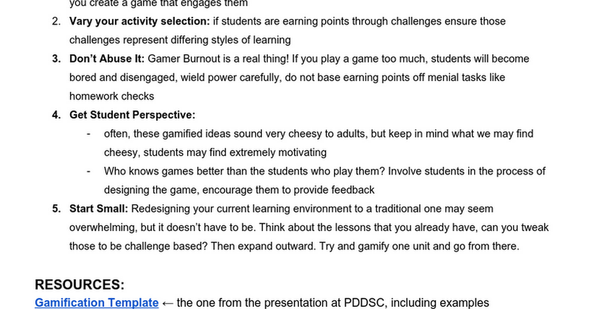 Gamifying your Learning Environment