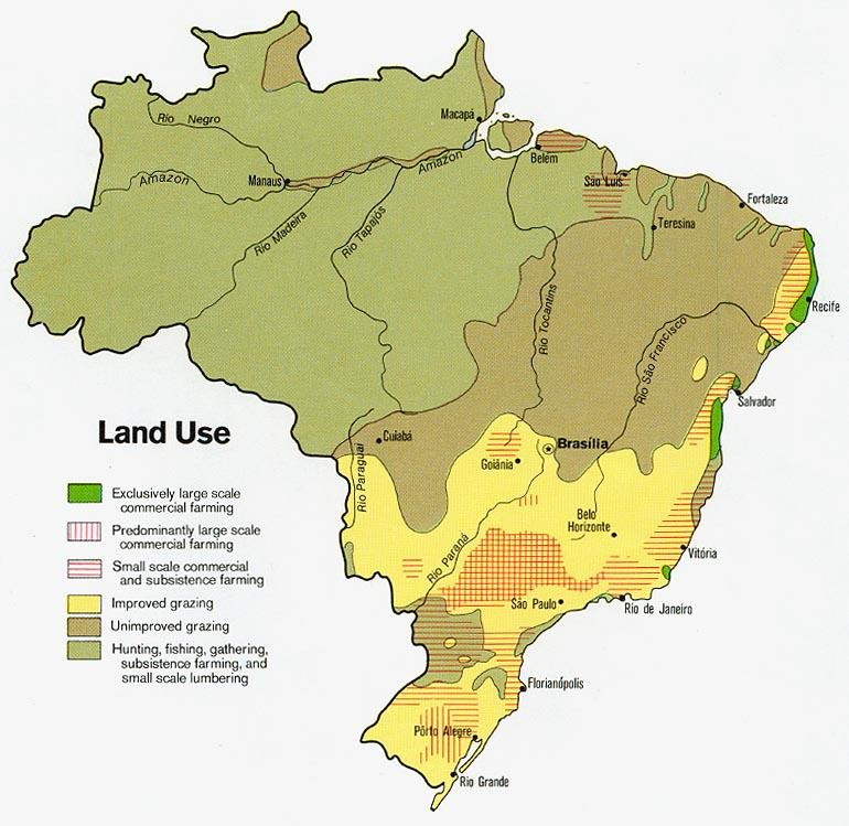 Image result for brazils land usage map