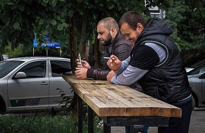 Али Асанов (справа) и Мустафа Дегерменджи
