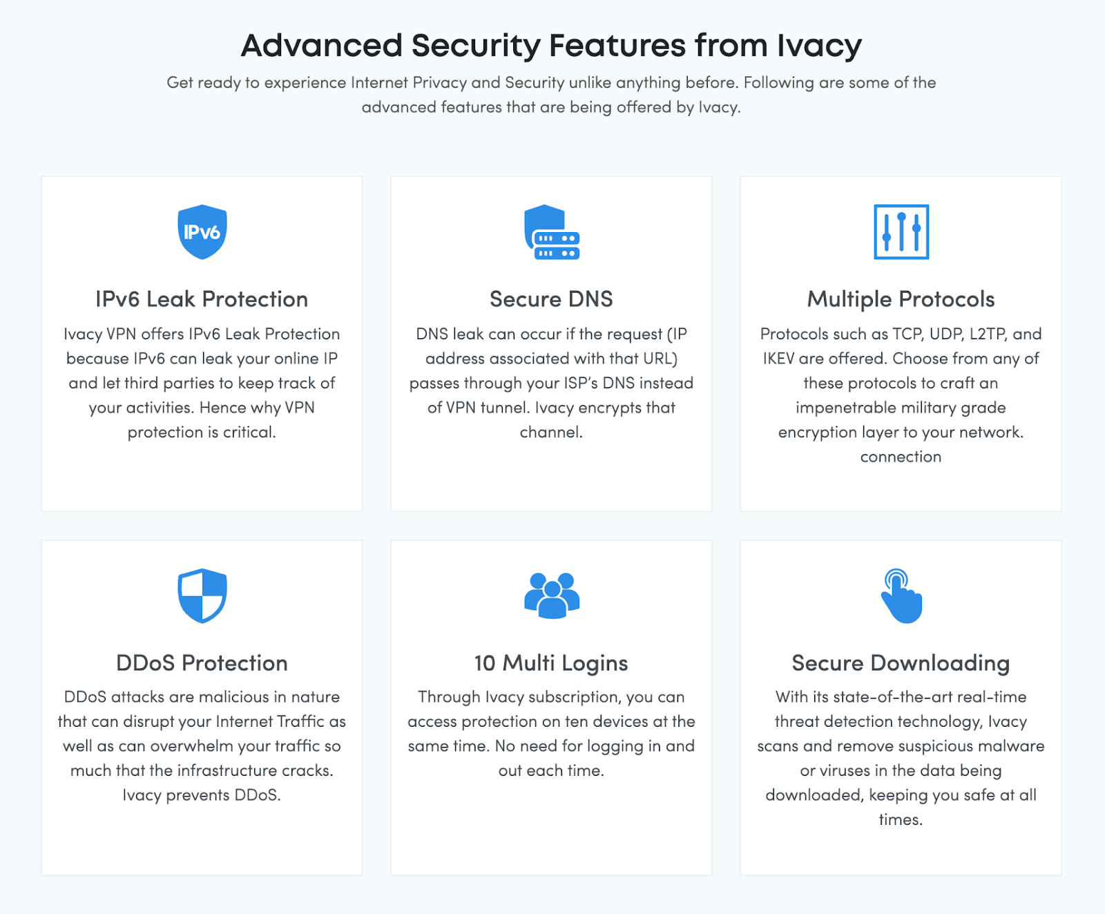 Ivacy Advanced features