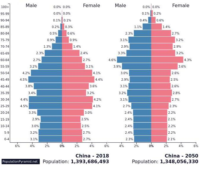 China population pyramid