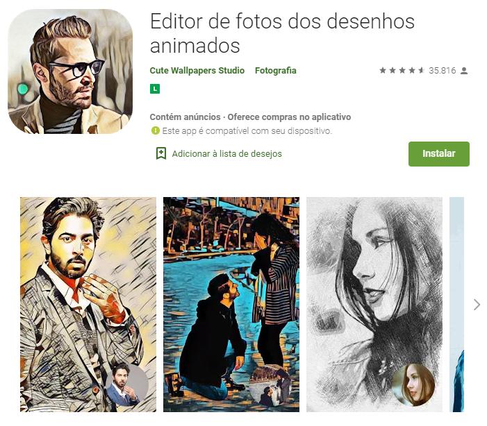 Editor de Fotos para Converter em Caricatura