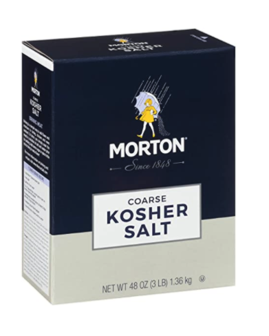 Morton coarse kosher salt for cleaning the inside of your marijuana pipe or bong