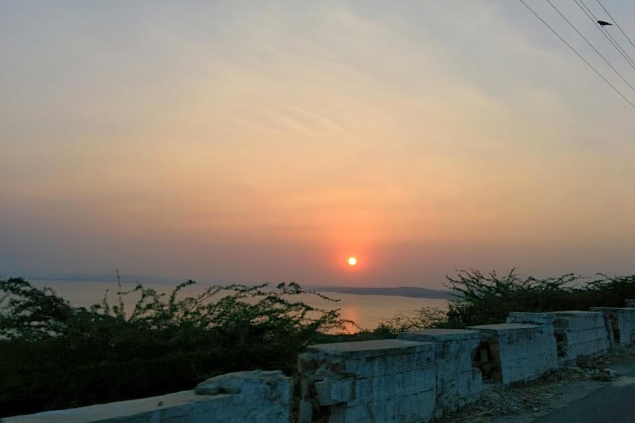 Sunset at Nagarjuna Sagar