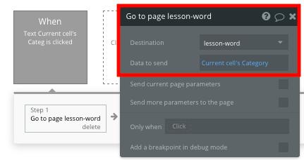 Bubble no code Duolingo clone tutorial sending data between pages