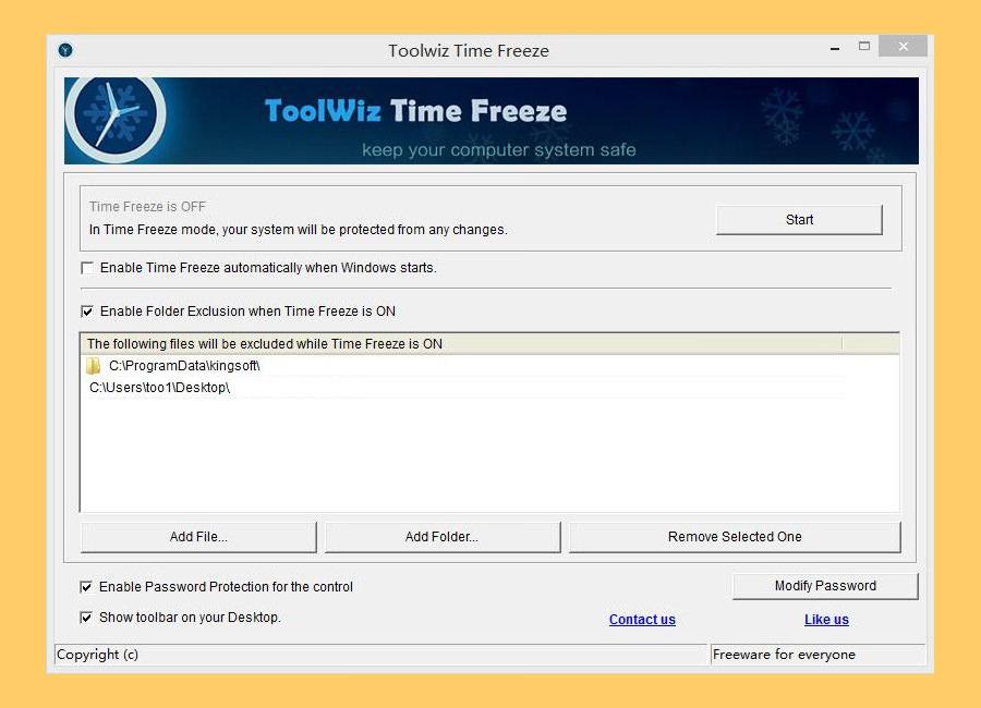toolwiz timefreeze