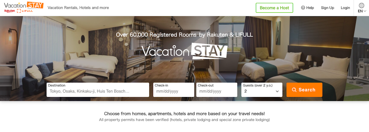 vacation rental asia pacific