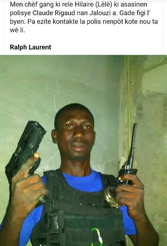 GANG LEADER FLEES TO CITE SOLEIR – CORNERED AND KILLED.. 20 MEMBERS OF HIS GANG ARRESTED – THIS IS NOT HIS PHOTOGRAPH!!!