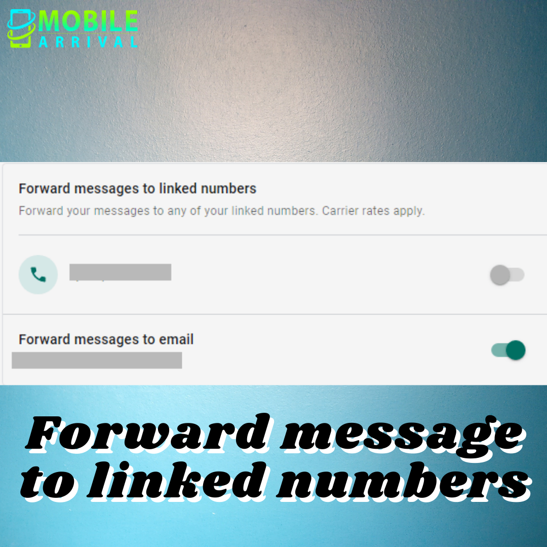 Forward message to linked numbers