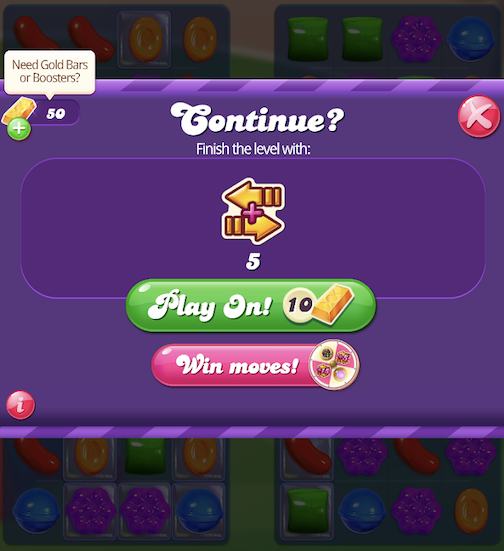 message with an exlemation point in a game