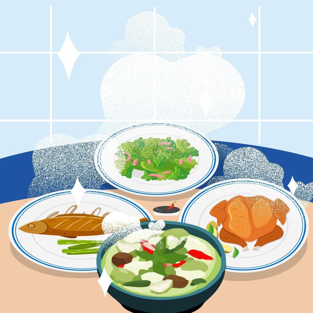 Chỉ ăn các loại thực phẩm đã nấu chín kĩ