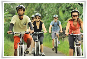 Bali countryside cycling tour - Ubud Bike tour- long Landscape cycling trek