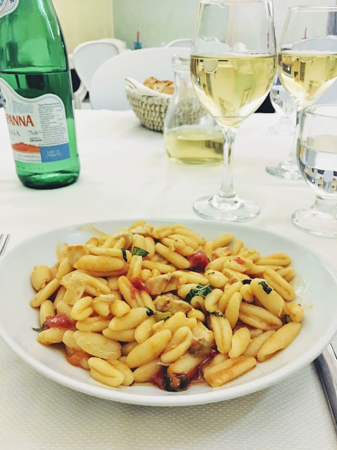 Pasta from a restaurant in Noto, Sicily